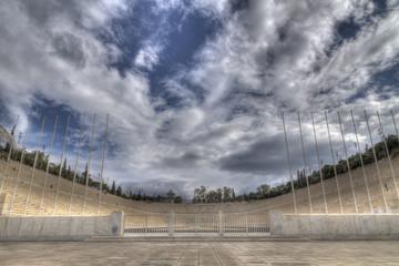Panathenaic stadium also known as kallimarmaro