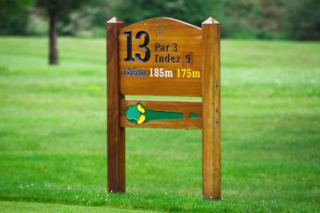 Golf hole sign