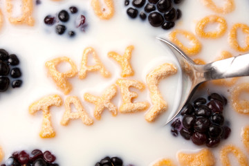 Pay Taxes Cereal Reminder