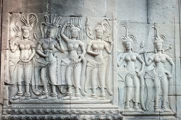 Apsara carvings in Angkor