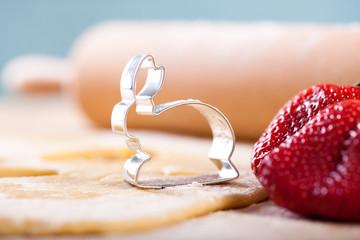 Erdbeere, Mürbeteig und Hasenförmchen