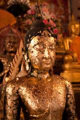 A gold-plated Buddha statue in Bangkok