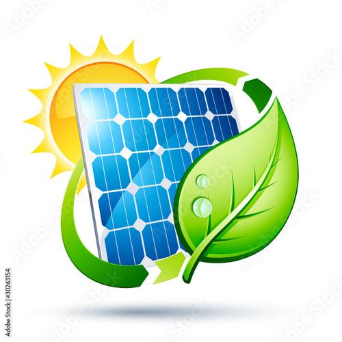 Panneau solaire cologie fichier vectoriel libre de droits sur la banque d 39 images - Credit impot panneau solaire ...