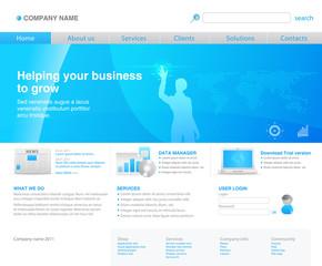 Corporate blue website template new 2011 design