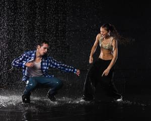 Modern dances.