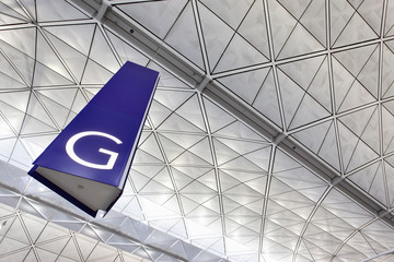 Gate at airport