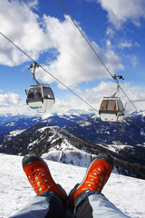 Shoes with cable lift in Alps