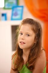 Portrait of cute schoolgirl