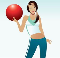 Beautiful fitness instructor