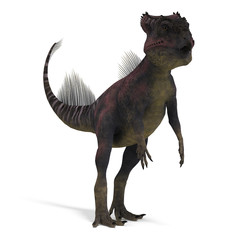 Dinosaur Archaeoceratops. 3D rendering with clipping path and
