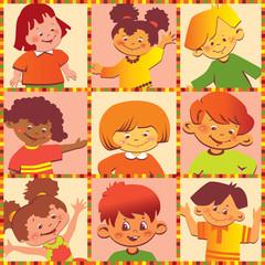 Happy children of different nationalities.