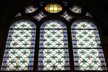 Paris05 - Église Saint-Médard : Vitraux