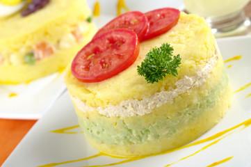 """Peruvian dish called """"causa"""""""