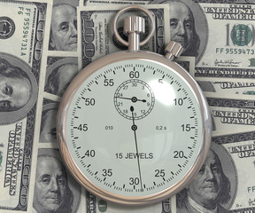 Time is money. 3d generated image