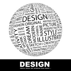 DESIGN. Illustration with different association terms.