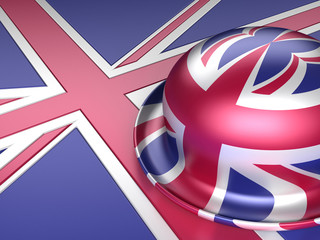Bowler hat with UK flag