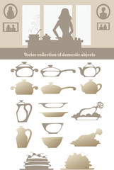 vector collection of domestic objects