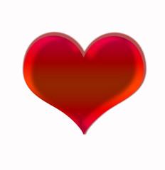 Corazón aislado sobre fondo blanco