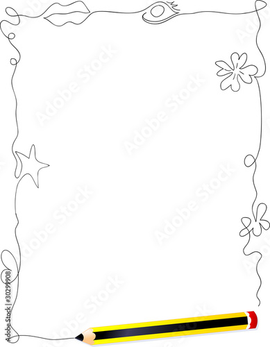 Cornice Con Piccoli Disegni Frame With Small Drawings Stock Image