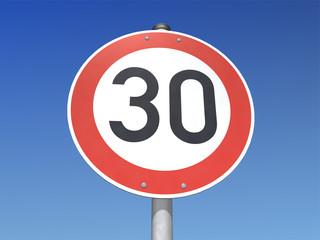 Verkehrsschild 30