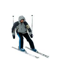 Skier isolated on white