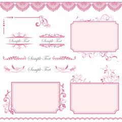 frame set pink