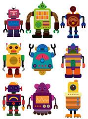 Spoed Foto op Canvas Robots cartoon color robot icon