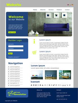 "Website Template ""Blue Furniture"""