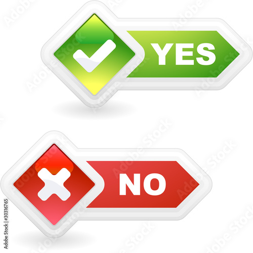 Instant Yes Button : Quot yes and no vector beautiful icon set stock image