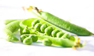 peas on white