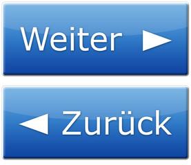 Weiter & Zurück Button - Blau