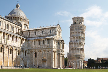 Italy, Pisa. Cathedral and Leaning Tower