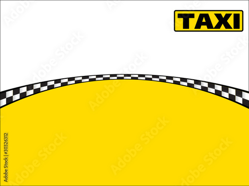 Vector Business Card - Taxi Visitenkarte\