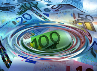 Euro unter Wasser