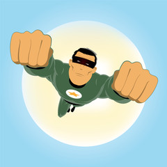 Comic-like Green Super-Hero