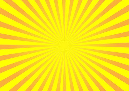 Orange vector burst background