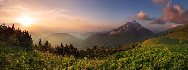 Roszutec peak in sunset - Slovakia mountain Fatra