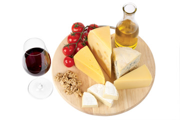 cheese, tomatoes,walnuts and red wine