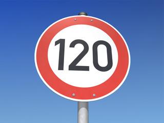 Verkehrsschild 120