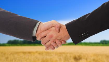Outdoor handshake