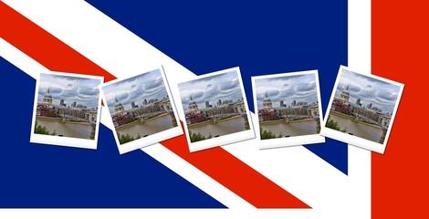 Millennium Bridge e la bandiera inglese