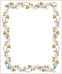 Beautiful decorative framework with flowers.