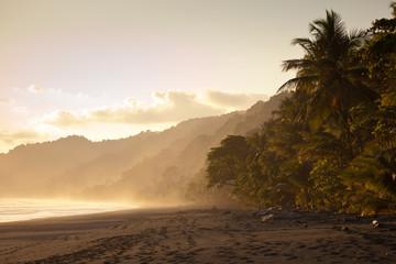 Sunset at deserted beach