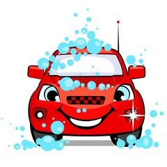The car on a car wash