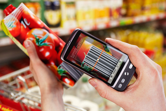 barcode scanner on the smartphone