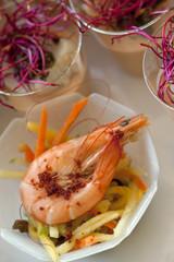 crevettes gambas tapas buffet traiteur cuisine gastronomie