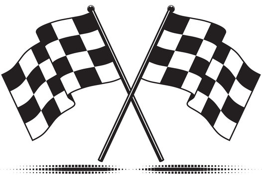 Vector checkered flags - reached the goal. Gradient free.