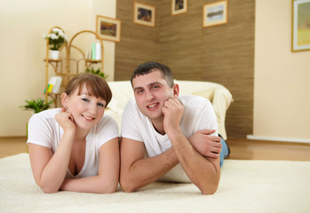 couple at home relaxing