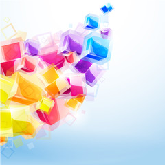 3d bright abstract background