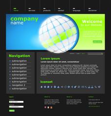 """Website Template """"Green World"""" Vektoren"""